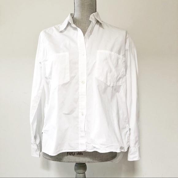 Massimo Dutti boxy fit button up collared shirt